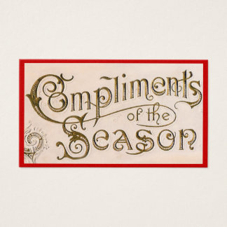 Compliments of the Season Business Card