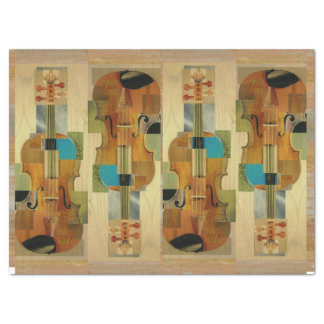 Composed Violins Instrument Parts Collage Tissue Paper