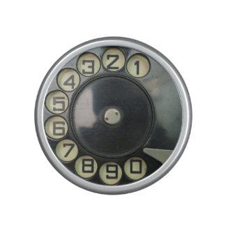 composez disque vintage de numéro de téléphone de haut-parleur bluetooth