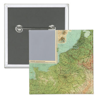 Composite France, Belgium, Holland 2 Inch Square Button