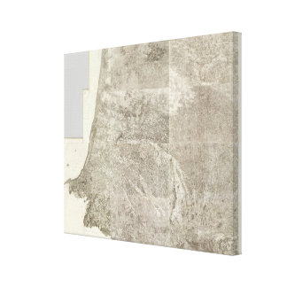 Composite Map of France Canvas Print