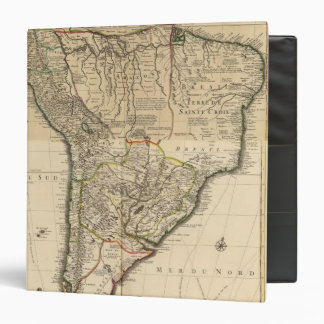 Composite map of South America 3 Ring Binder