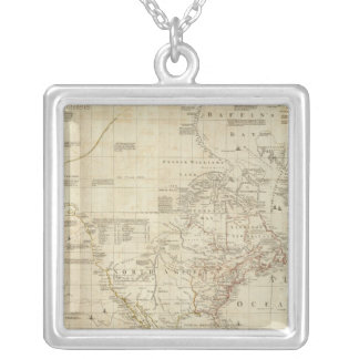 Composite North & South America Silver Plated Necklace