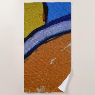 Composition #1A by Michael Moffa Beach Towel