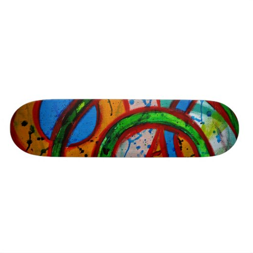 Composition #20C by Michael Moffa Skateboard