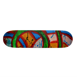 Composition #20D by Michael Moffa Skate Board