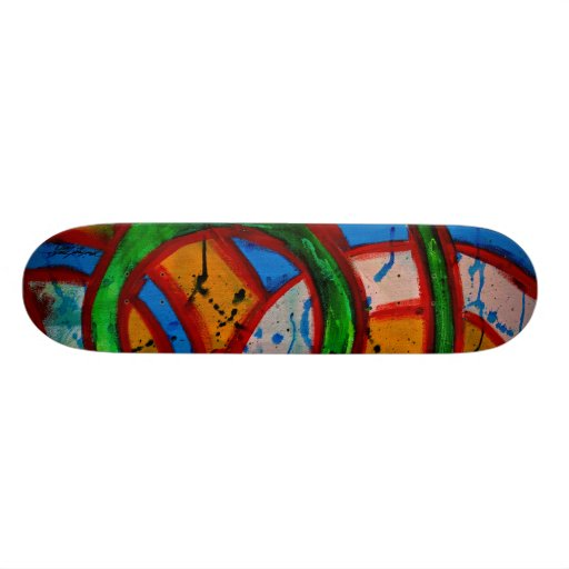 Composition #20D by Michael Moffa Custom Skateboard