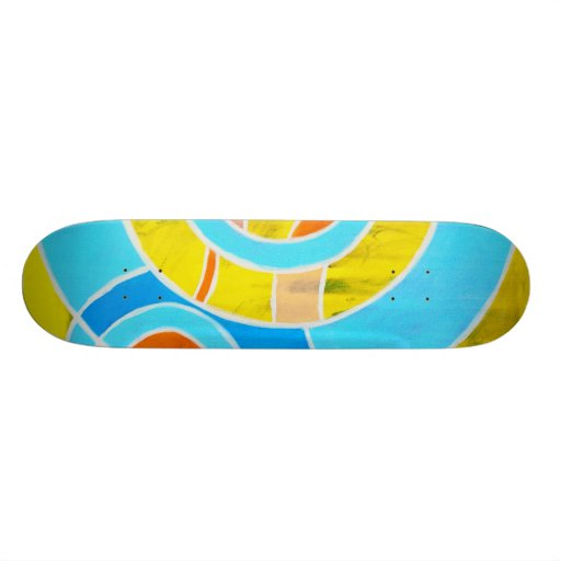 Composition #23A by Michael Moffa Skate Deck