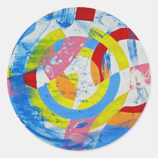 Composition #2 by Michael Moffa Round Sticker