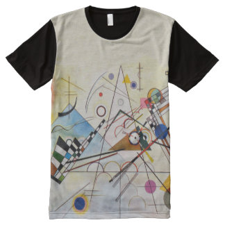 Composition 8 by Wassily Kandinsky; Abstract Art T All-Over-Print T-Shirt