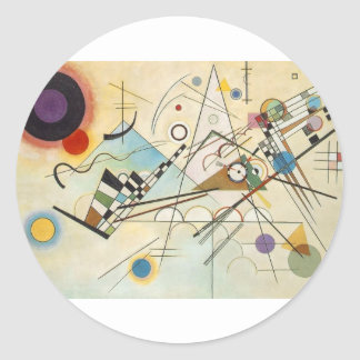 Composition 8 Kandinsky Painting Classic Round Sticker
