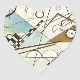 Composition 8 Kandinsky Painting Heart Sticker