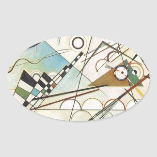Composition 8 Kandinsky Painting Oval Sticker