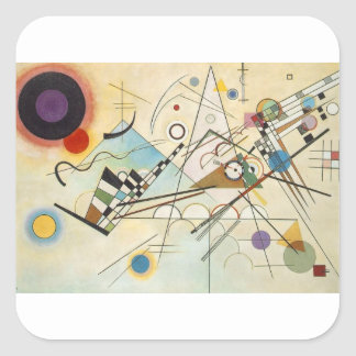 Composition 8 Kandinsky Painting Square Sticker