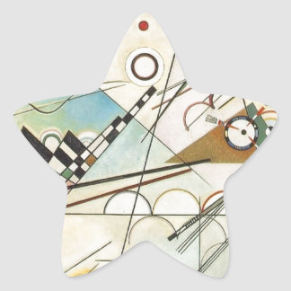 Composition 8 Kandinsky Painting Star Sticker