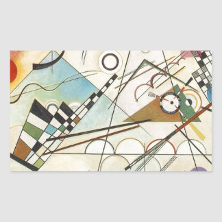 Composition 8 Kandinsky Painting Sticker
