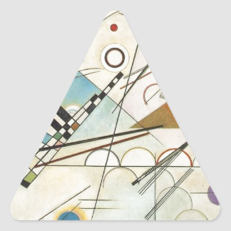 Composition 8 Kandinsky Painting Triangle Sticker