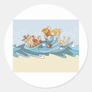 composition background round sticker