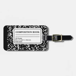 Composition Book Bag Tag