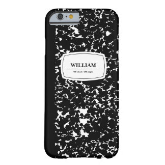 Composition Book, Customized Barely There iPhone 6 Case