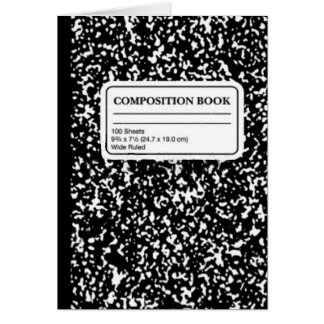 Composition Book/Student-Teacher Card