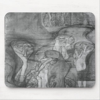 Composition draft of the law faculty image - Klimt Mousepad
