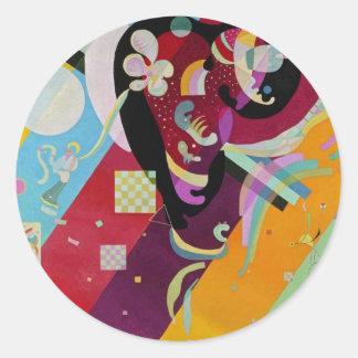 Composition IX Round Sticker