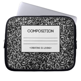 Composition Notebook Design Laptop Sleeve
