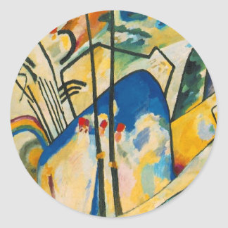 Composition Number Four Round Sticker