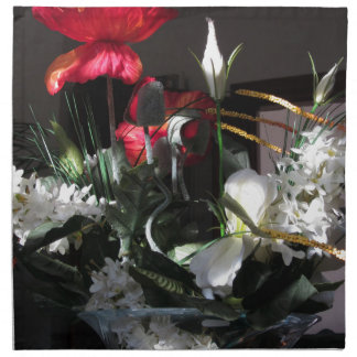 Composition of flowers napkin