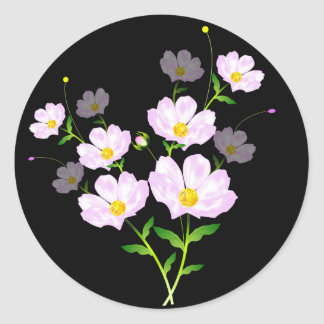 Composition Of Pink Flowers, Sticker