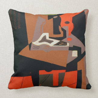 Composition (oil on canvas) throw pillow