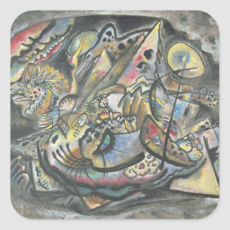 Composition: The Grey Oval, 1917 Square Sticker