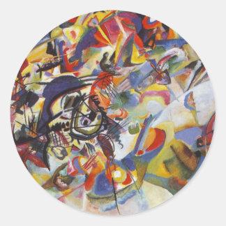 Composition VII Round Sticker