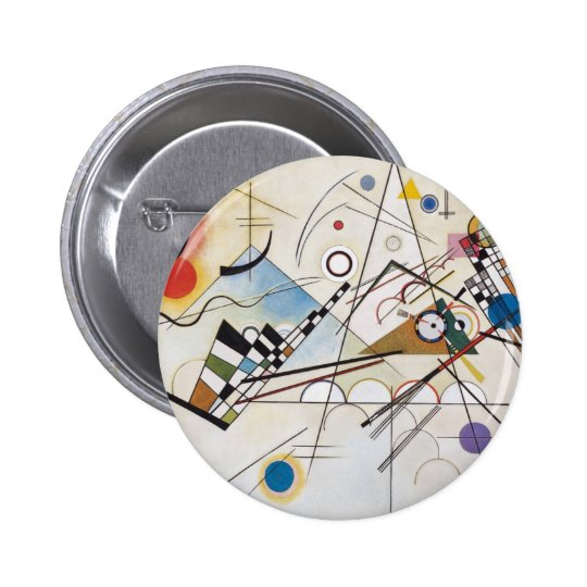 Composition VIII 2 Inch Round Button