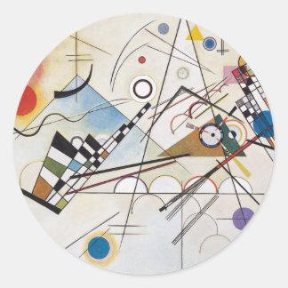 Composition VIII Round Sticker