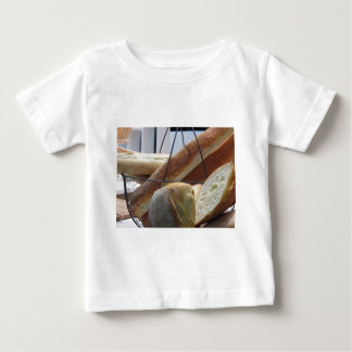 Composition with different types of baked bread baby T-Shirt