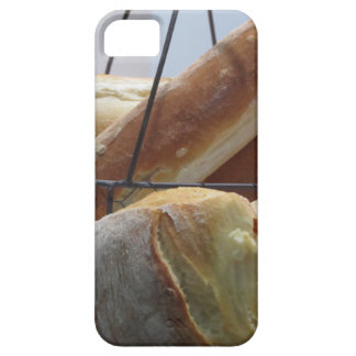 Composition with different types of baked bread iPhone 5 cases