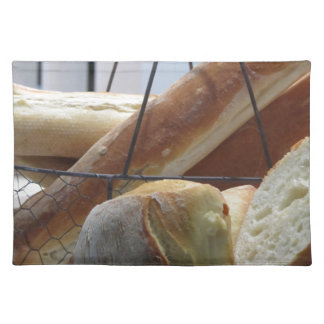 Composition with different types of baked bread placemat