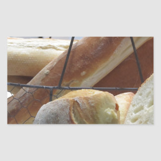 Composition with different types of baked bread sticker