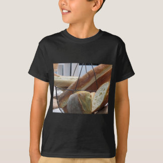 Composition with different types of baked bread T-Shirt