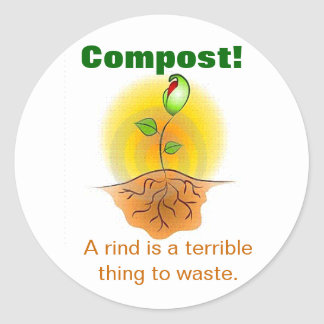 Compost Classic Round Sticker