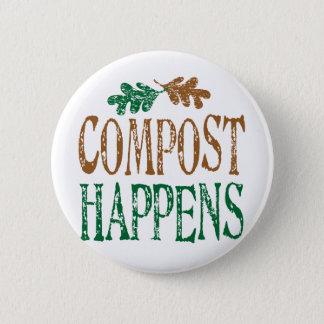Compost Happens 2 Inch Round Button