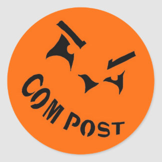 Compost Jack-o-Lantern Sticker