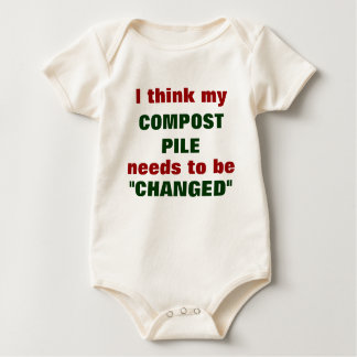 Compost Pile Baby Bodysuit