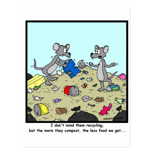 Composting is bad postcard