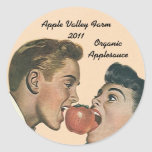 Compote de pommes de mise en boîte à la maison autocollant rond