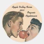 Compote de pommes de mise en boîte à la maison d'A Autocollant Rond