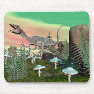 Compsognathus dinosaur - 3D render Mouse Pad