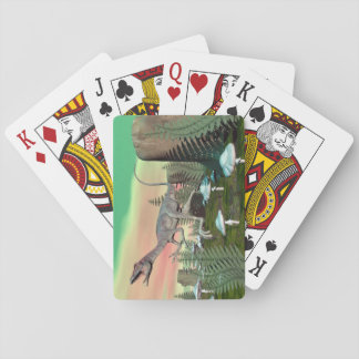 Compsognathus dinosaur - 3D render Playing Cards